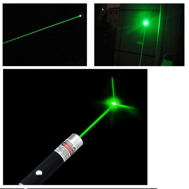 Bright 532nm 5mW Class III Green Laser with Aluminum Alloy Barrel