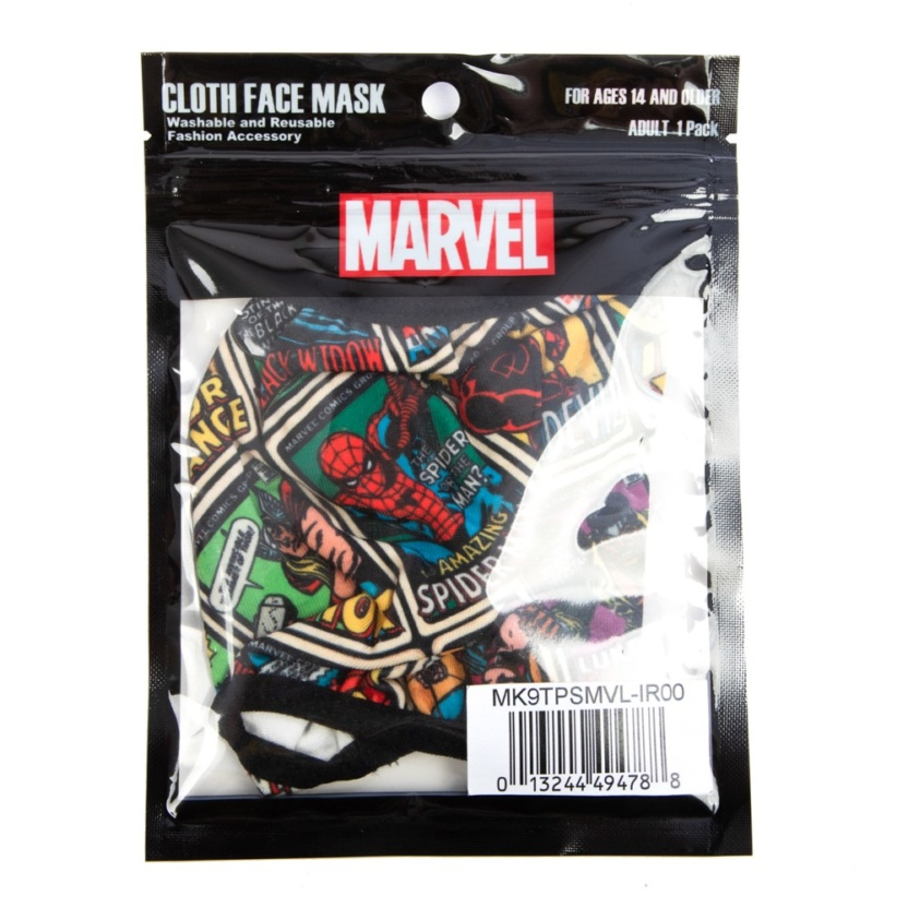 Marvel Comics Adult Adjustable Face Mask/Cover in package