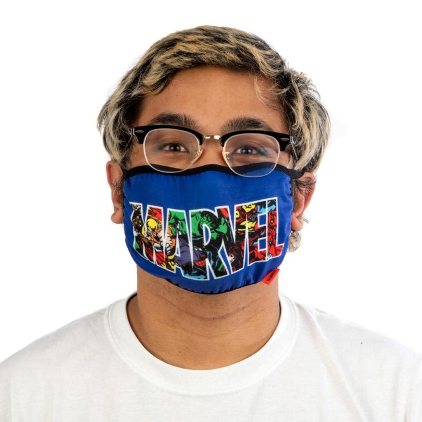 Marvel Logo Face Mask - Marvel Adult Adjustable Face Mask