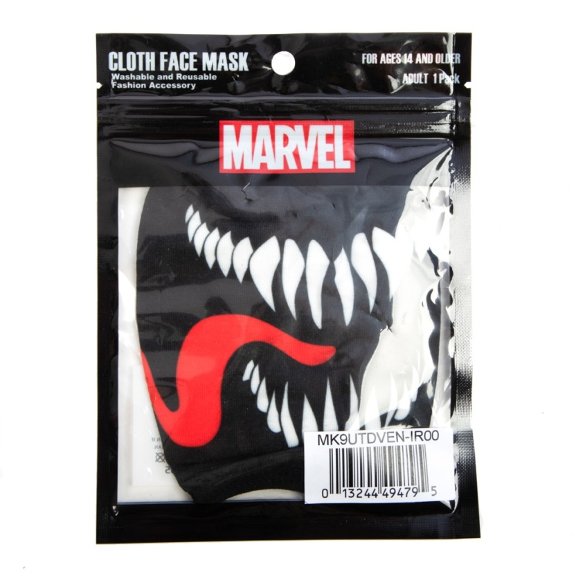 Marvel Venom Adult Adjustable Face Mask/Cover in package