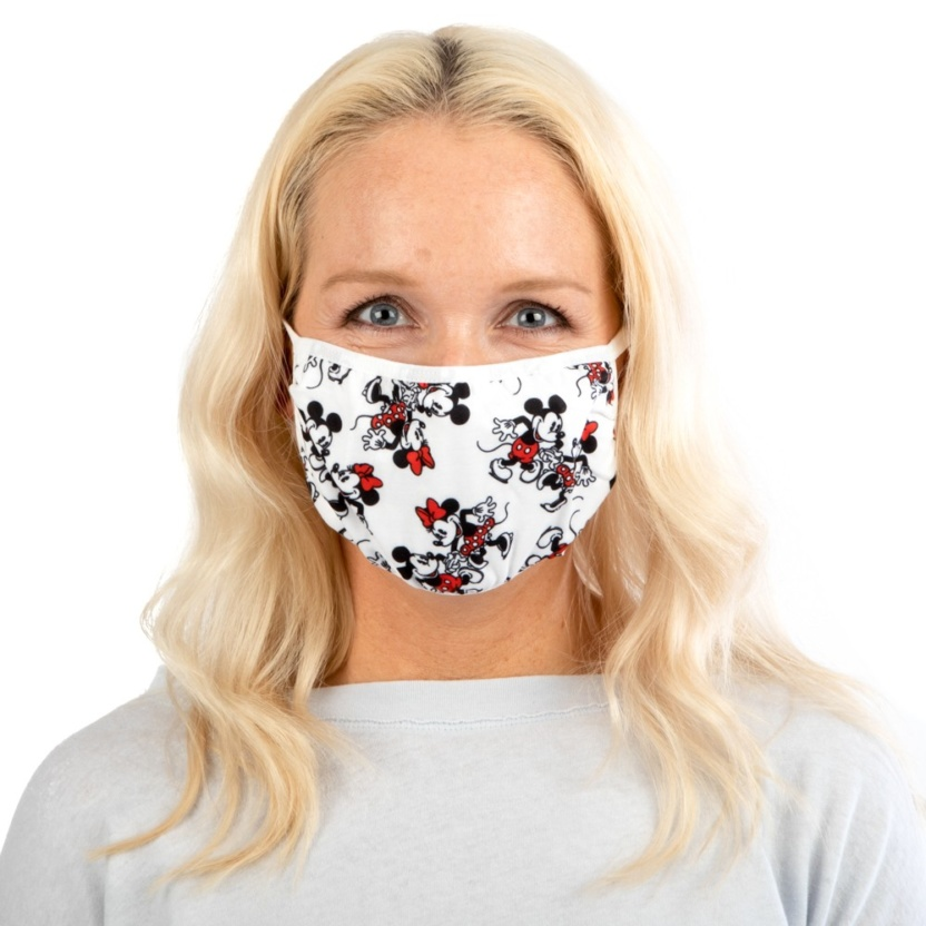 Mickey and Minnie Face Mask- Disney Adult Adjustable Face Mask/Cover