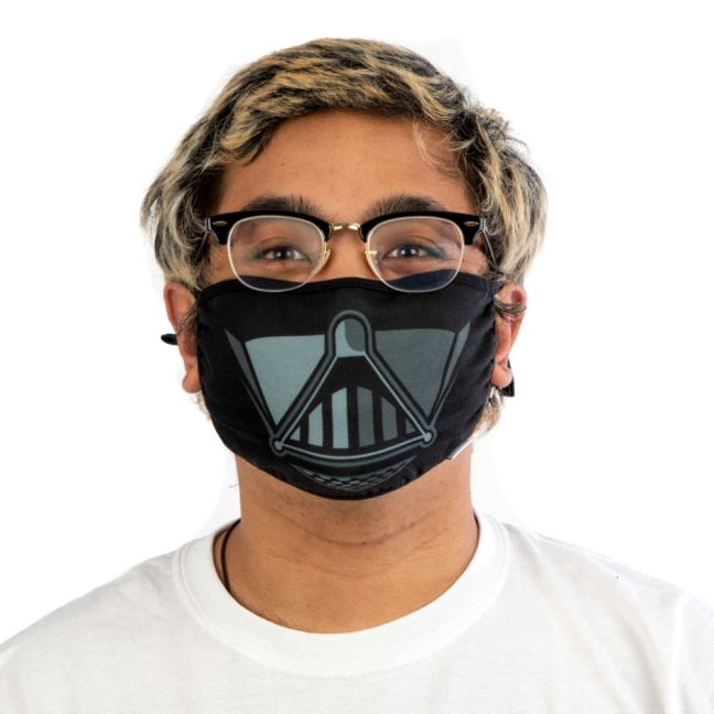Star Wars Darth Vader Face Mask - Star Wars licensed Adult Size Adjustable Face Mask/Cover