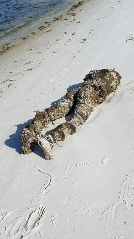 Headless mannequin on Florida beach