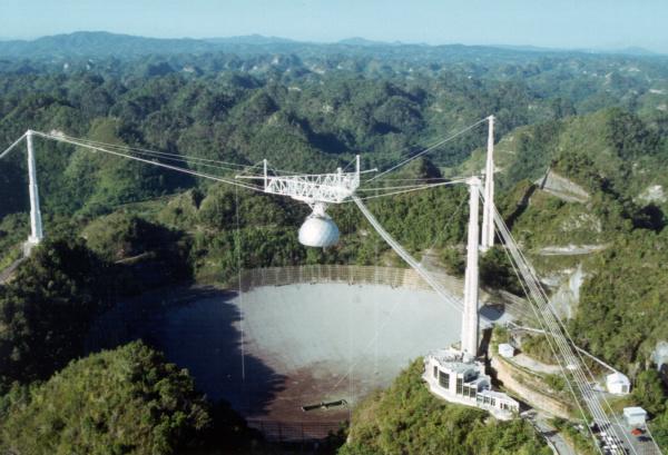 Arecibo Observatory and telescope