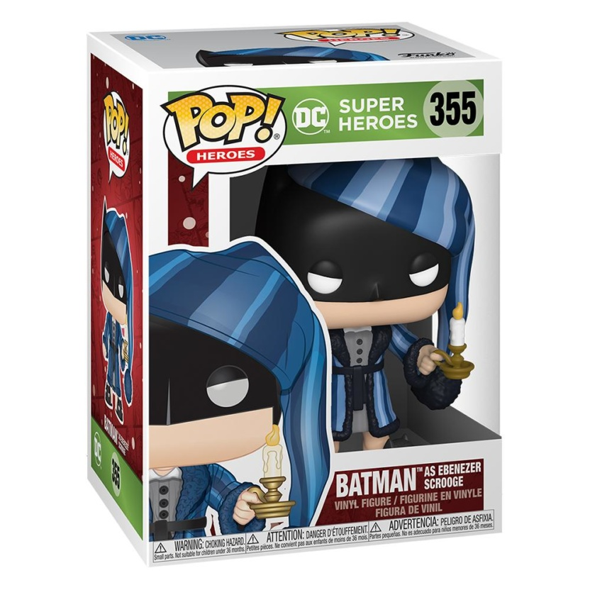 Batman Holiday Scrooge Funko Pop! - DC Comics Batman Christmas Figure box
