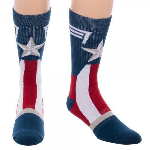 Captain America Socks - Captain America Suit-Up Crew Socks