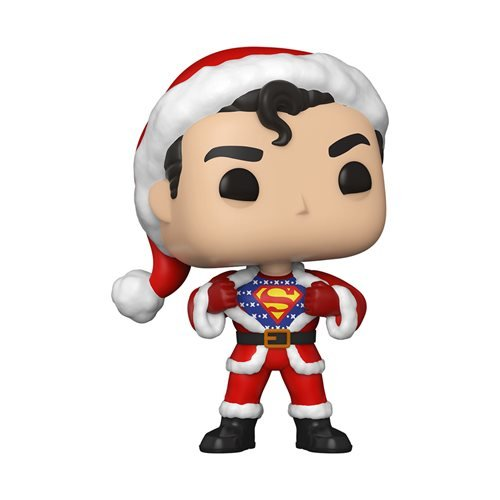 DC Holiday Superman Christmas Funko Pop - Superman with Festive Sweater Pop! Vinyl Figure