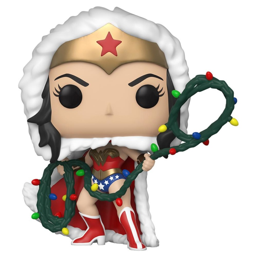 DC Holiday Wonder Woman with Lights Lasso Pop! Vinyl Figure