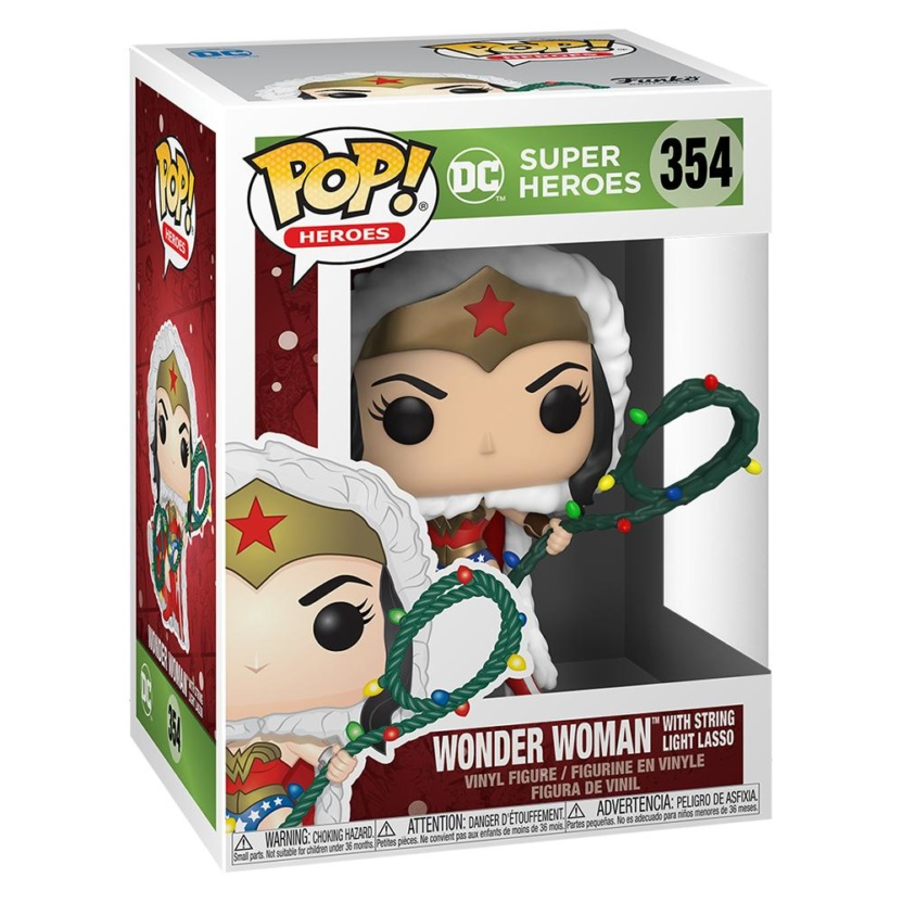 DC Holiday Wonder Woman with Lights Lasso Pop! Vinyl Figure in box