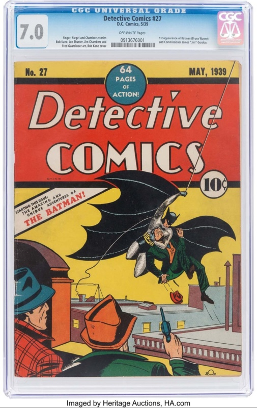 Detective Comics No 27 (1939) - first appearance of Batman