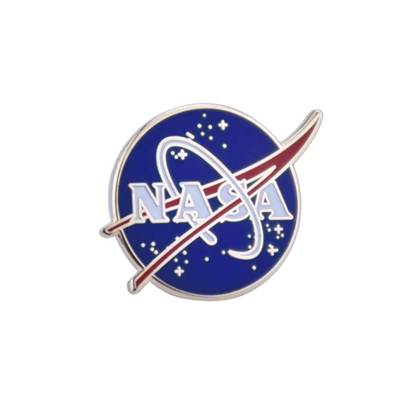 Full color raised metal enamel NASA pin