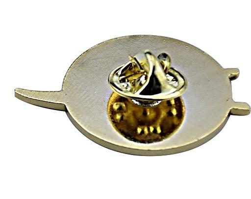 Full color raised metal enamel NASA pin back