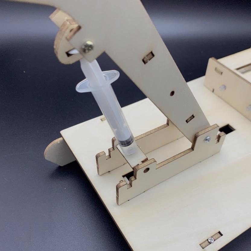 Hydraulic excavator wooden model kit - hydraulic principles demonstration hydraulics