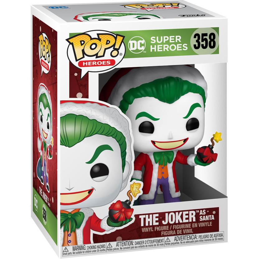 Joker Santa with Bomb - DC Holiday Santa Joker Funko Pop! Vinyl Figure in box