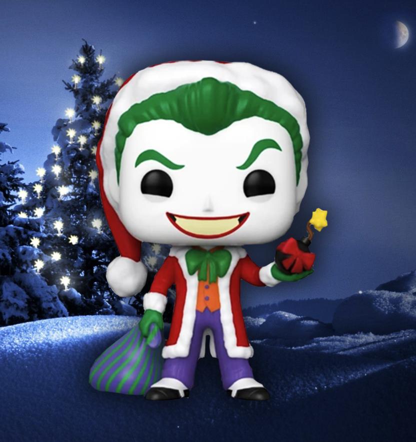 Joker Santa with Bomb - DC Holiday Santa Joker Funko Pop! Vinyl Figure scene