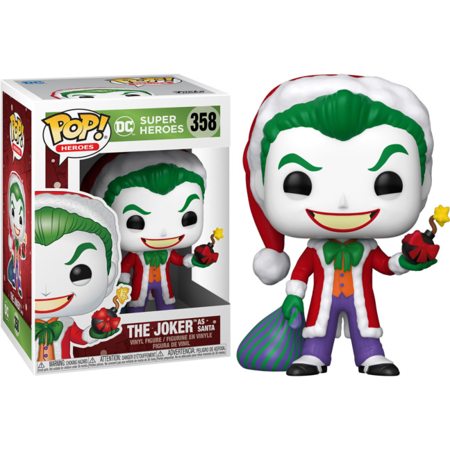 Joker Santa with Bomb - DC Holiday Santa Joker Funko Pop! Vinyl Figure with box