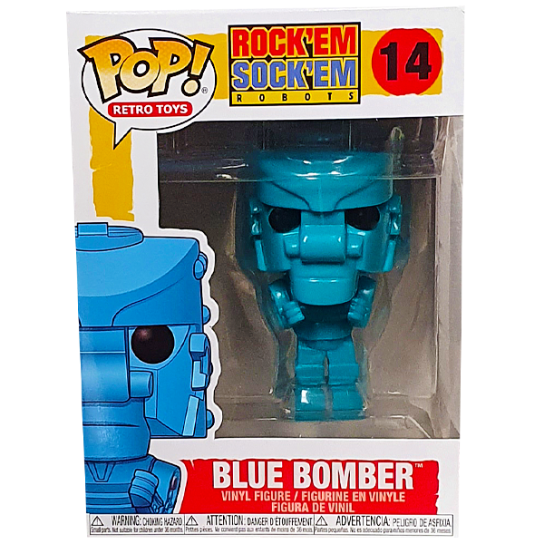 Rock Em Sock Em Robot Funko Pop - Blue Bomber Pop! Vinyl Figure in box