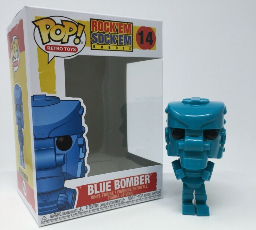 Rock Em Sock Em Robot Funko Pop - Blue Bomber Pop! Vinyl Figure with box