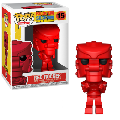 Rock Em Sock Em Robot Funko Pop - Red Rocker Pop! Vinyl Figure with box