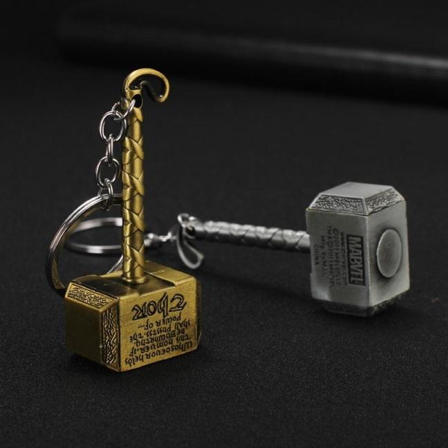 Thor Hammer keychain - Marvel Thor solid metal keychain