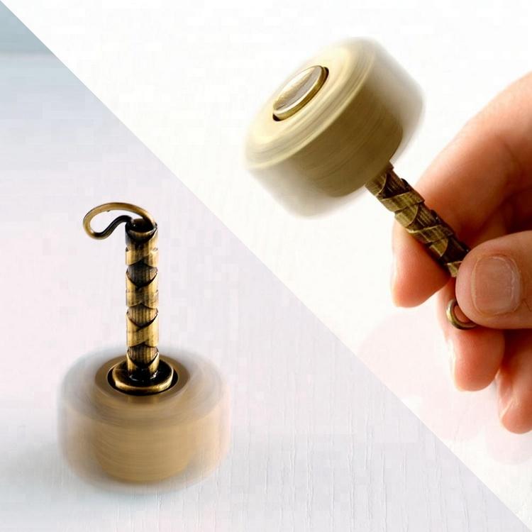 Thor Hammer - Thor Metal Fidget Spinner gold spinning