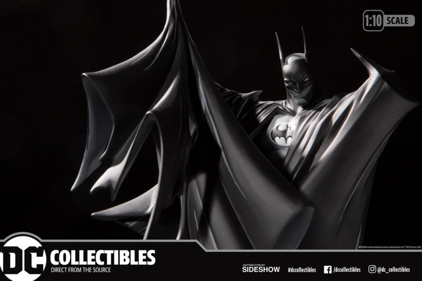 Batman Black and White Statue by Todd McFarlane box wide