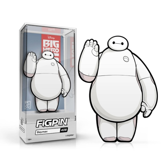 Big Hero 6 Baymax Figpin pin - FiGPiN Classic 3-Inch Enamel Pin with case