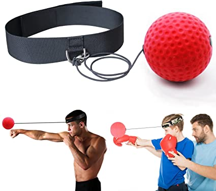 Boxing Ball Trainer for Fight Reflex Training - premier headband speed ball