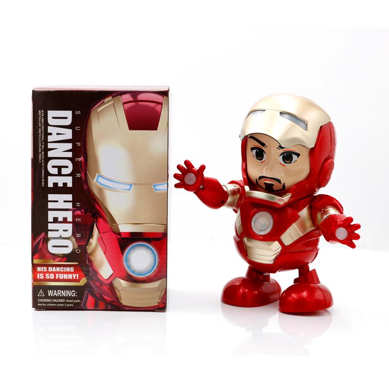 Dance Hero Dancing Superheroes - Iron Man with box mask up