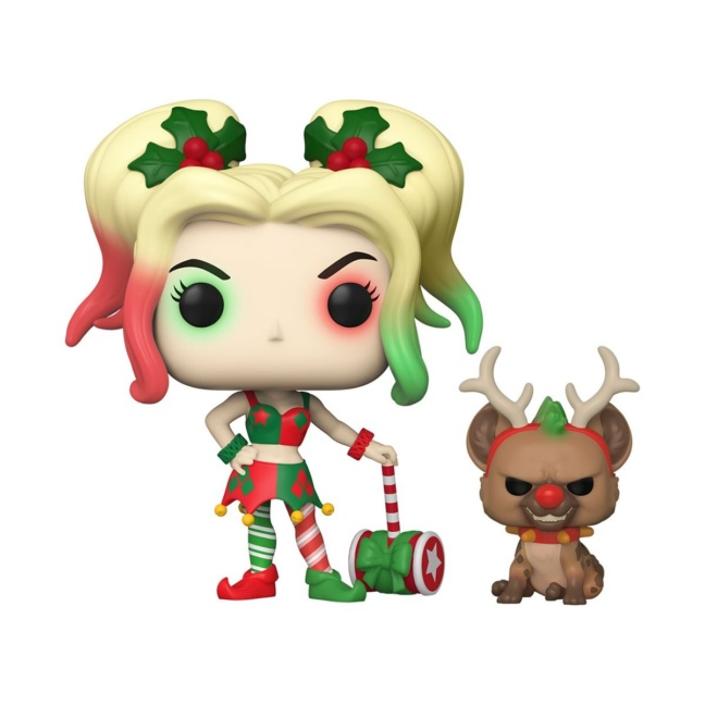 DC Holiday Harley Quinn with Helper Buddy Funko Pop Vinyl Figure