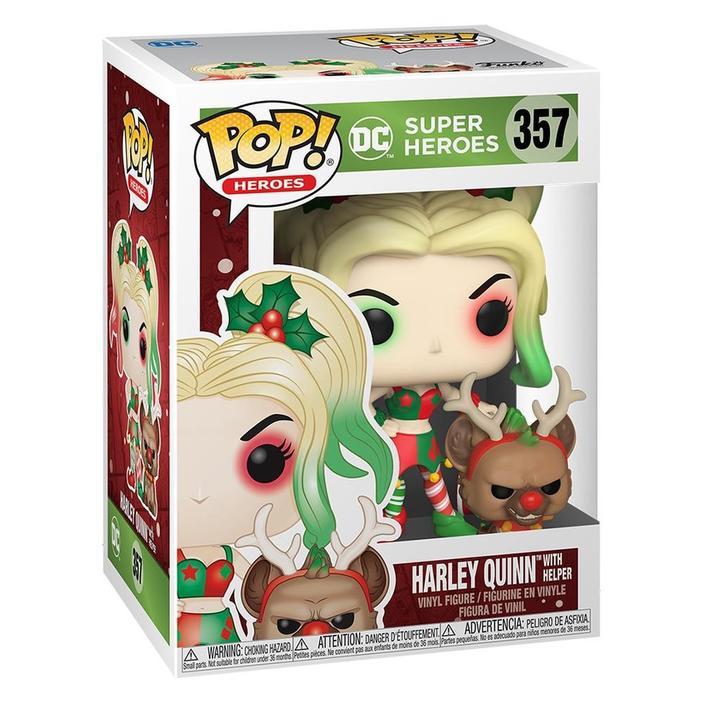 DC Holiday Harley Quinn with Helper Buddy Funko Pop Vinyl Figure in box