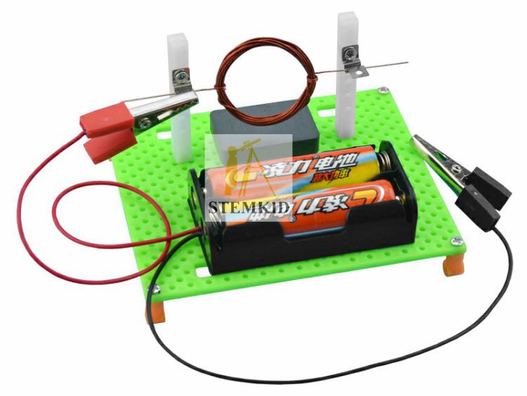 Electric motor principles kit - DIY physics science experiment kit