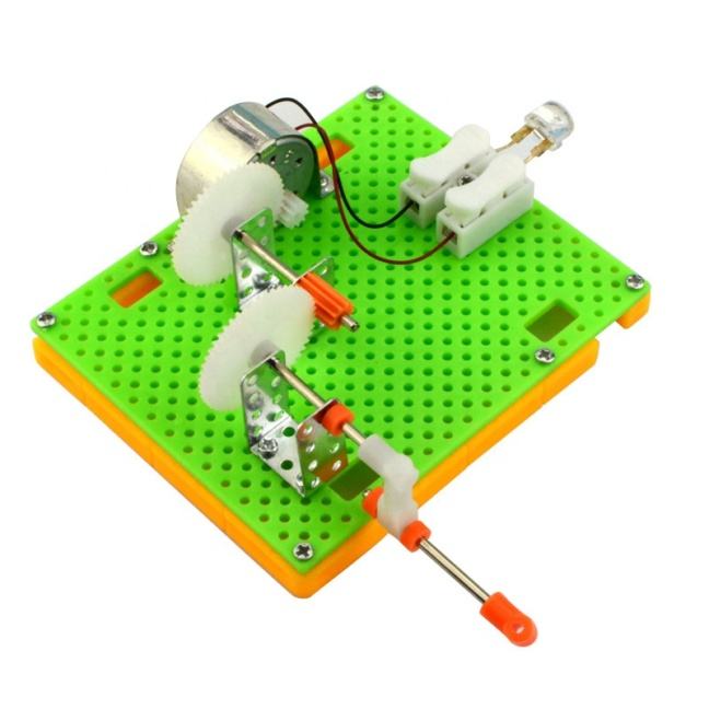 Hand crank electric generator science kit - DIY science experiment kit