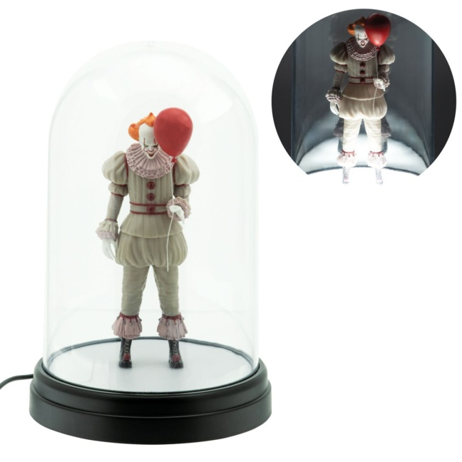 IT Pennywise Bell Jar Light - USB powered LED lit Pennywise in clear dome