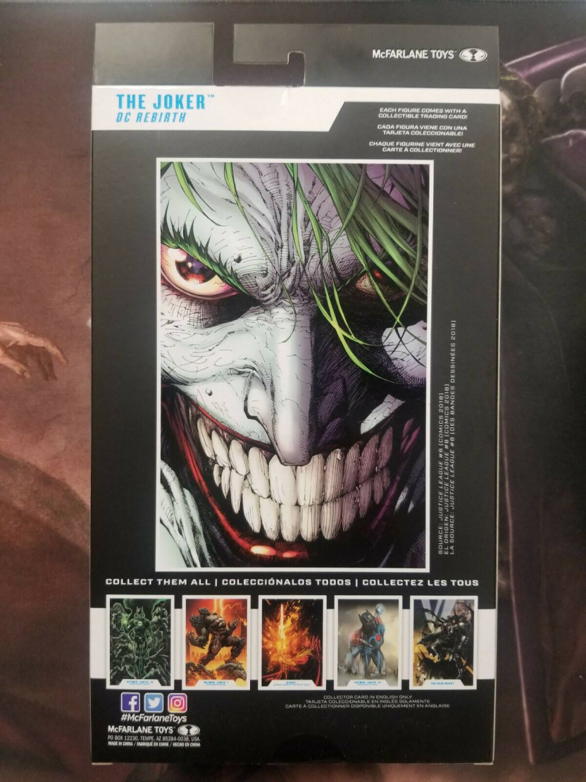 Joker 7-inch figure - DC Multiverse Wave 3 Modern Comic Joker box back