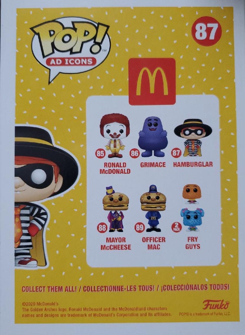 McDonald's Hamburglar Funko Pop! Vinyl Figure box back