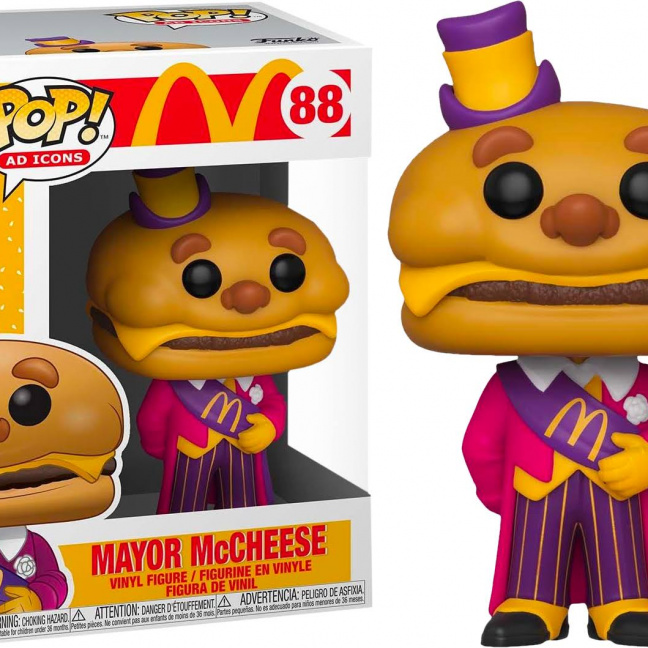 McDonald's Mayor McCheese Funko Pop! Vinyl Figure - Funko Ad Icon Collection by box