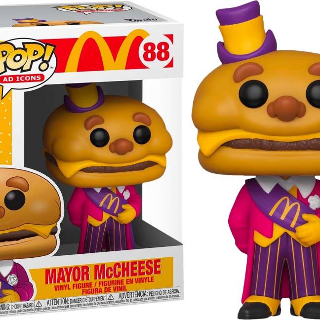 McDonald's Mayor McCheese Funko Pop! Vinyl Figure - Funko Ad Icon Collection by box