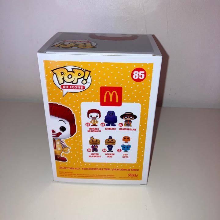 McDonald's Ronald McDonald Funko Pop! Vinyl Figure box back