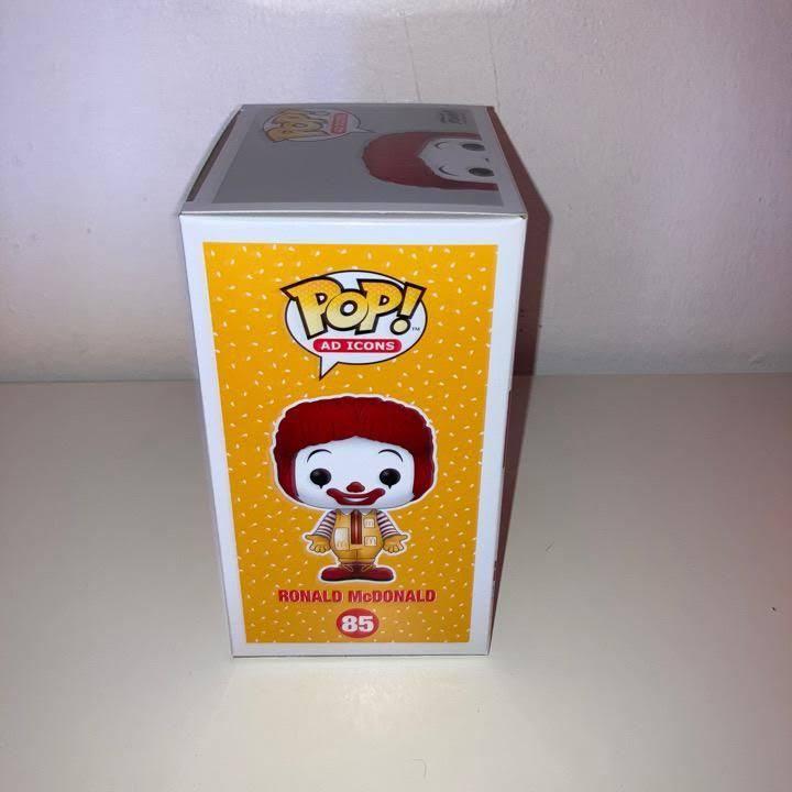 McDonald's Ronald McDonald Funko Pop! Vinyl Figure box left side