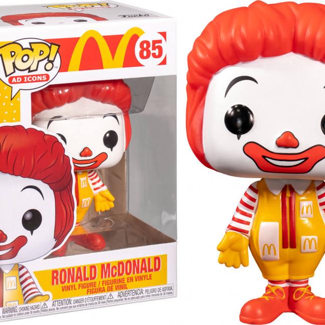 McDonald's Ronald McDonald Funko Pop! Vinyl Figure with box close