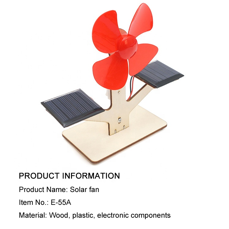 Solar powered fan science kit/model materials