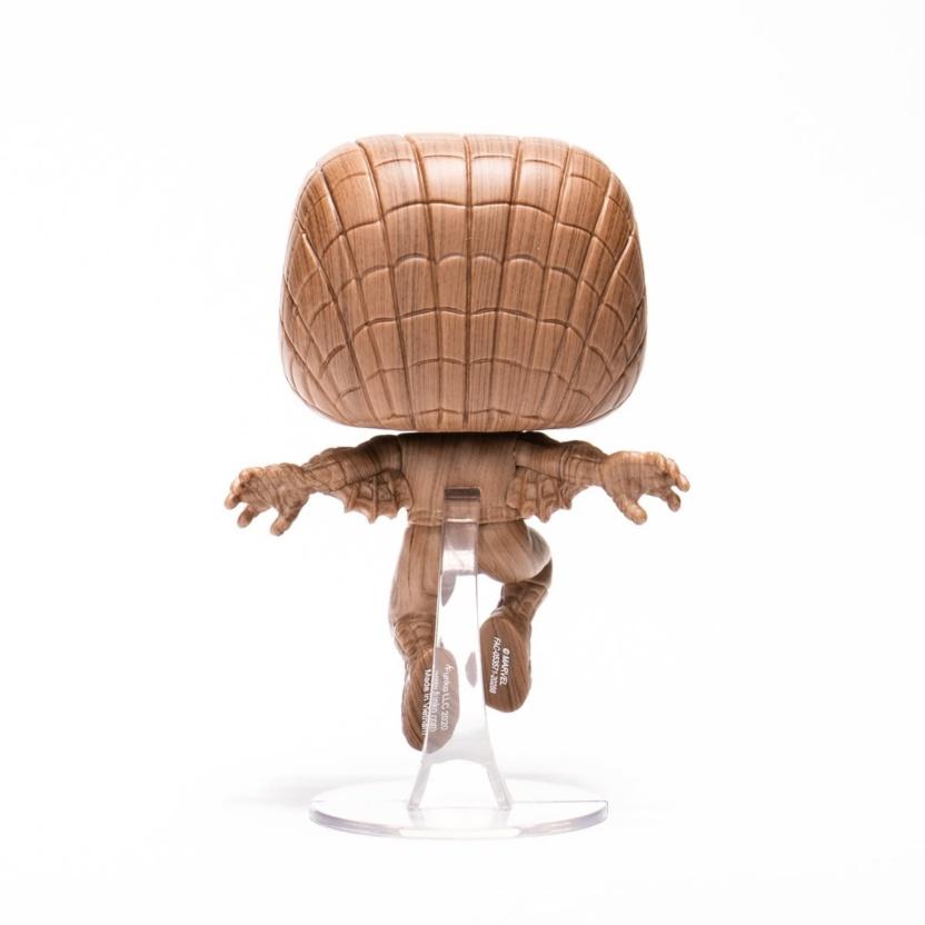 Spider-Man Wood Deco Funko Pop! Vinyl Figure - Exclusive back