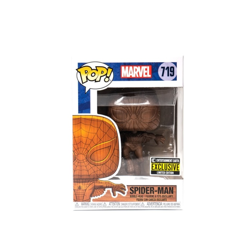 Spider-Man Wood Deco Funko Pop! Vinyl Figure - Exclusive box front