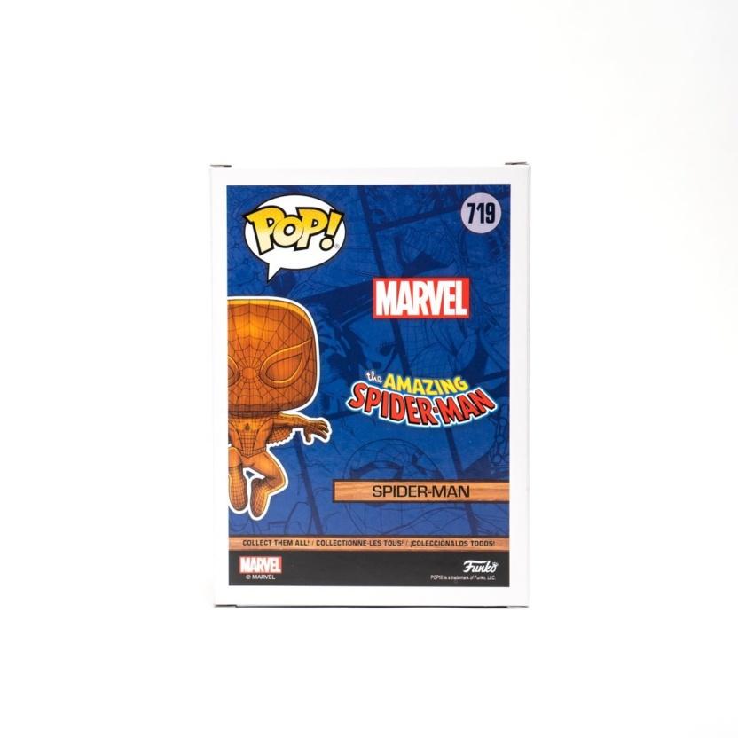 Spider-Man Wood Deco Funko Pop! Vinyl Figure - Exclusive box side