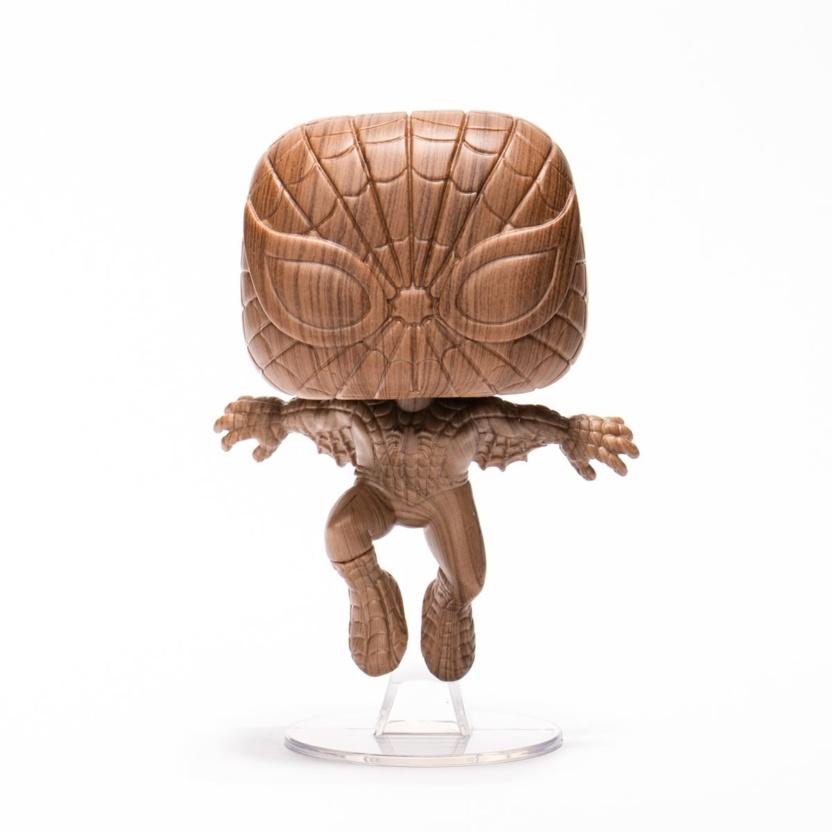 Spider-Man Wood Deco Funko Pop! Vinyl Figure - Exclusive front