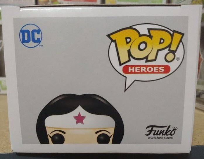 Wonder Woman Breast Cancer Awareness Funko Pop! Vinyl Figure #350 box top