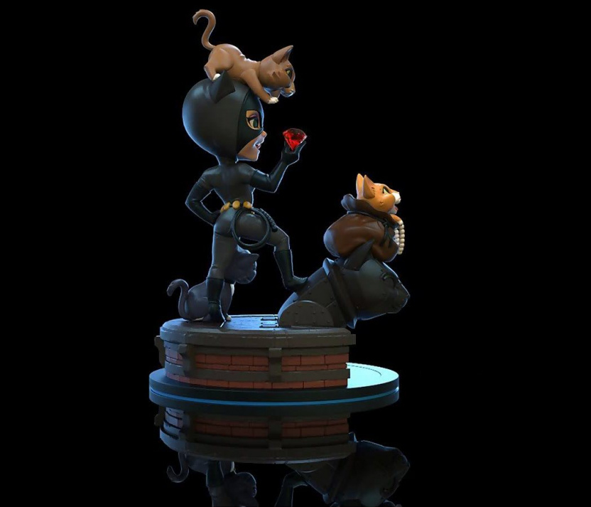 Batman: The Animated Series Catwoman Q-Fig Elite Statue right side