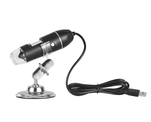 Electronic LED illuminated digital USB 50X-1000X microscope for PC and Android side