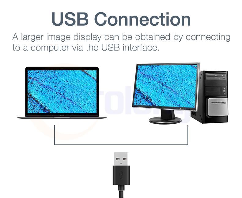 Electronic LED illuminated digital USB 50X-1000X microscope USB connection